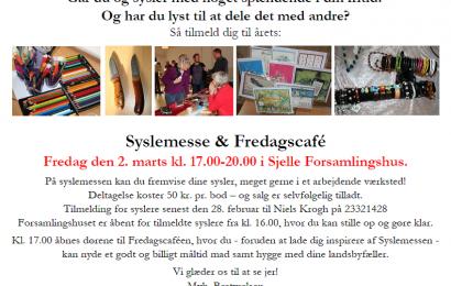 Syslemesse 2018 i Sjelle forsamlingshus