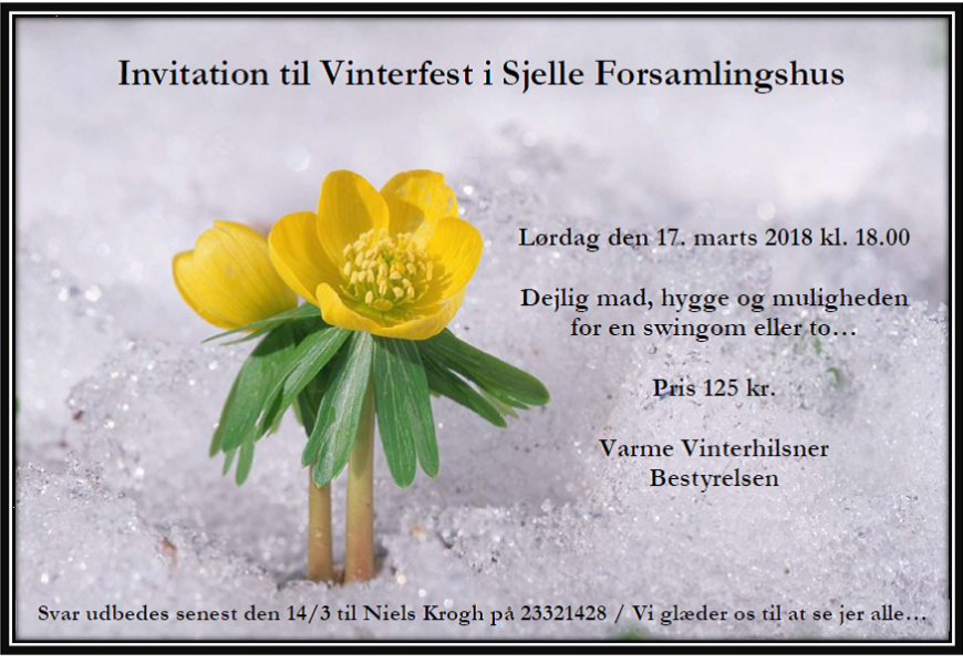 Vinterfest i Sjelle Forsamlingshus 2018