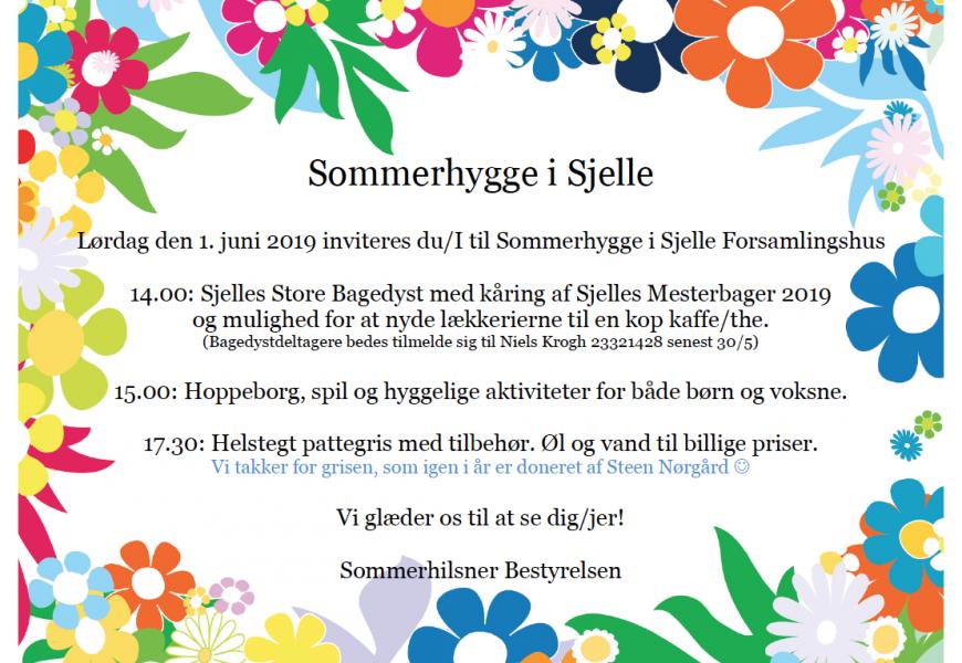 Sommerhygge & Sjelle Store Bagedyst 1. juni 2019 kl. 14