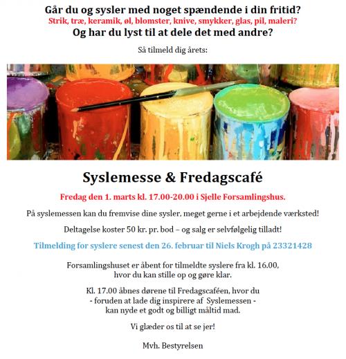 Fredagscafé og Syslemesse @ Sjelle Forsamlingshus | Galten | Danmark