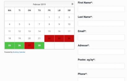 Elektronisk booking af Sjelle Forsamlingshus er nu igen i drift.