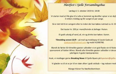 Høstfest i Sjelle 5. oktober