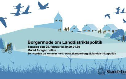Borgermøde om ny landdistriktspolitik